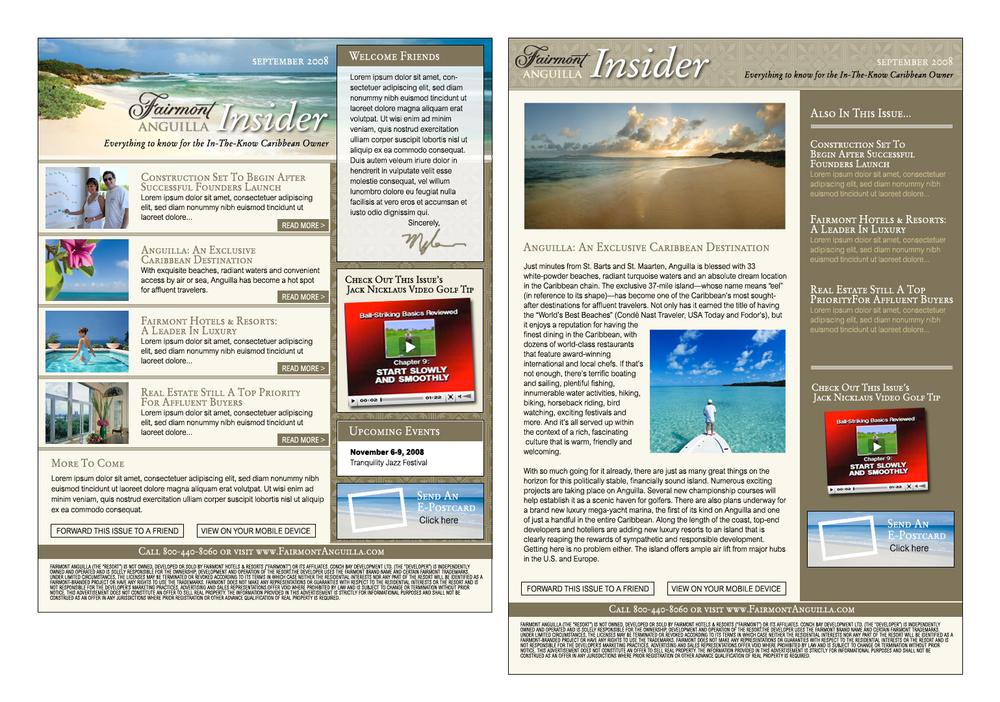 Fairmont Anguilla Insider E-Newsletter