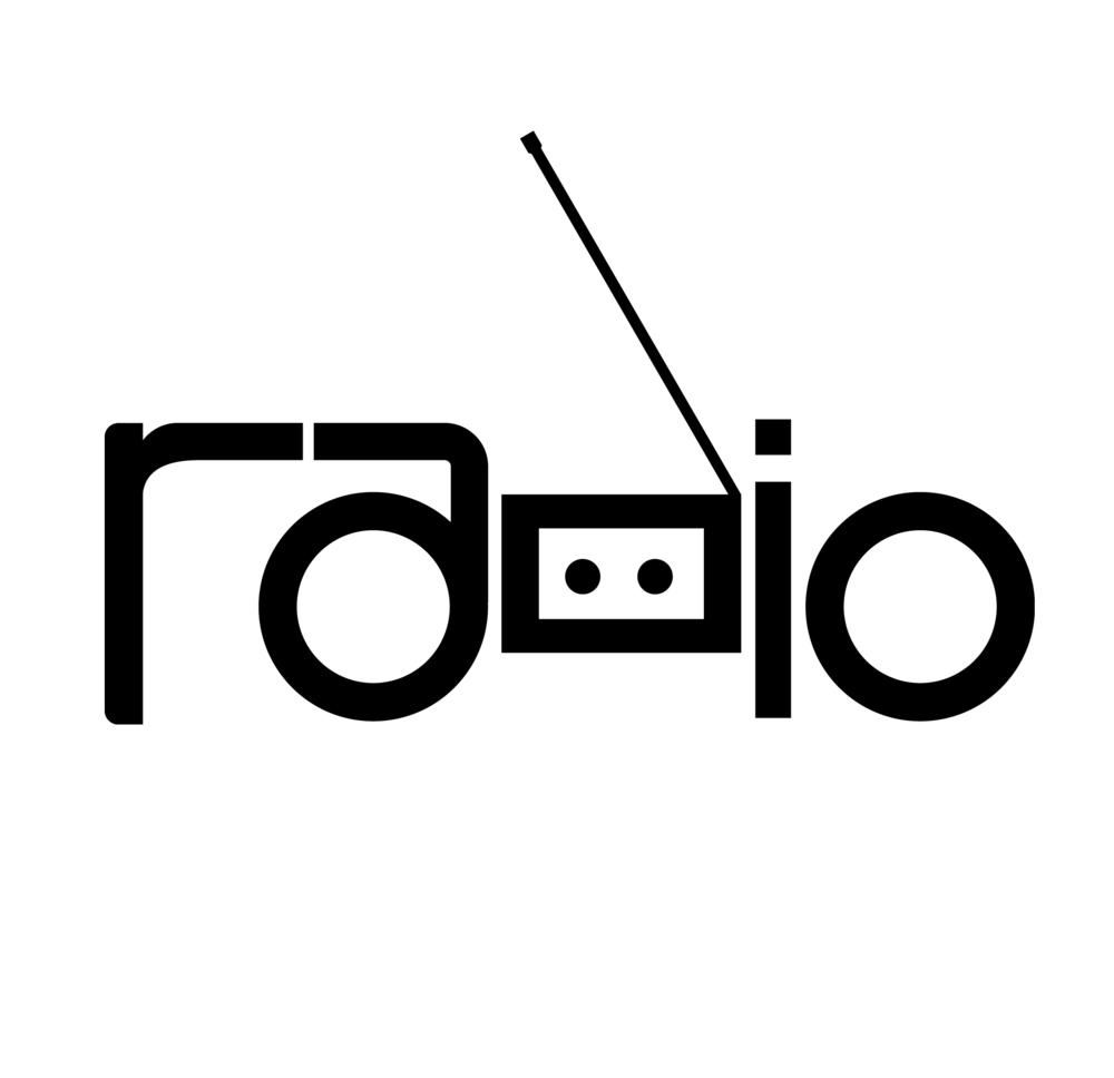 Typographic Illustration of the Word Radio