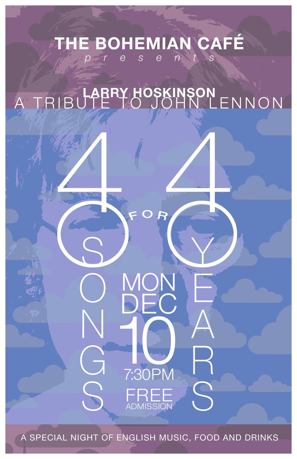 John Lennon Tribute Poster