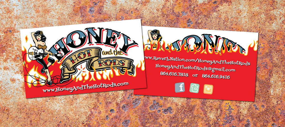 Honey and the Hot Rods Business Cards