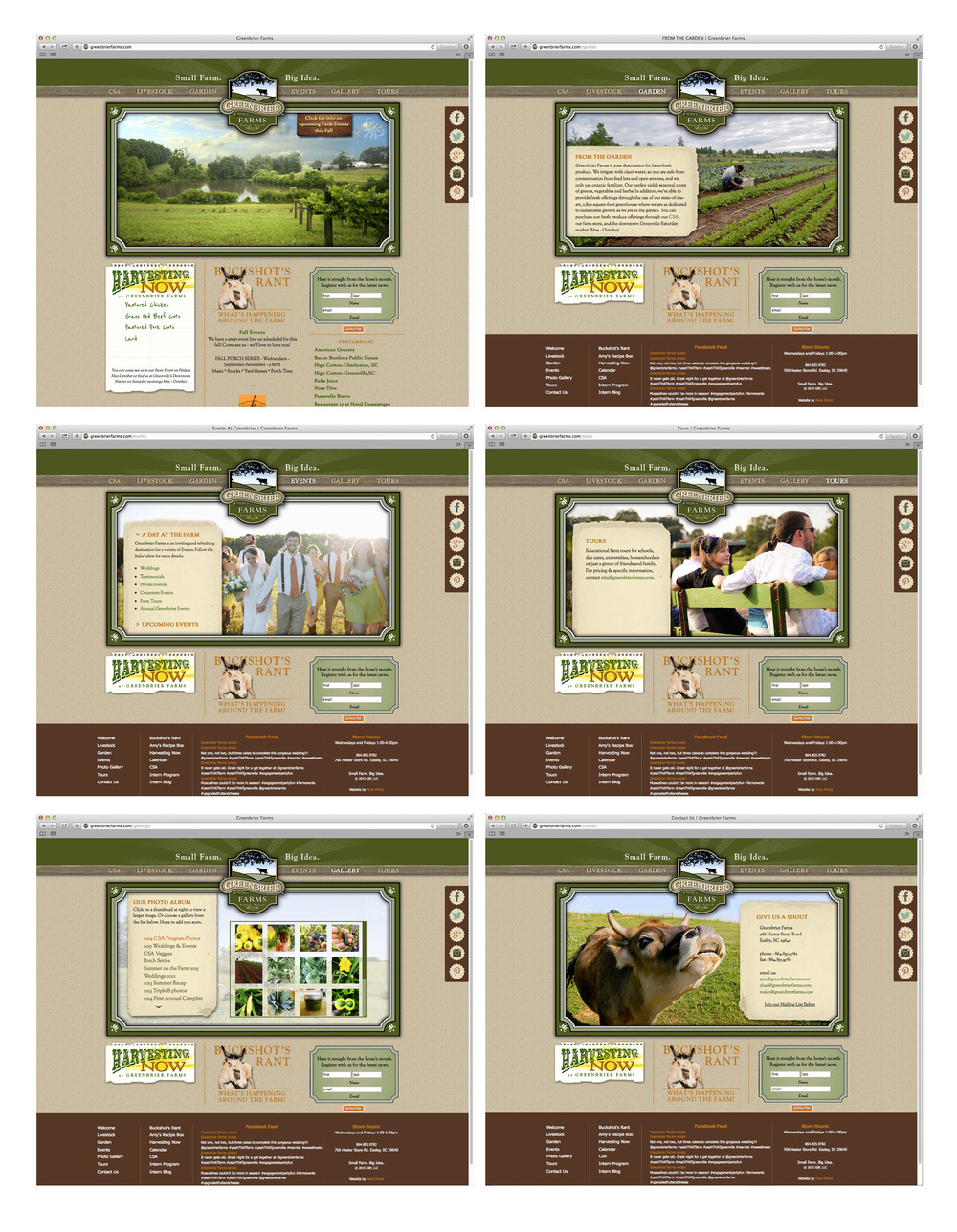 Greenbrier Farms Web Site