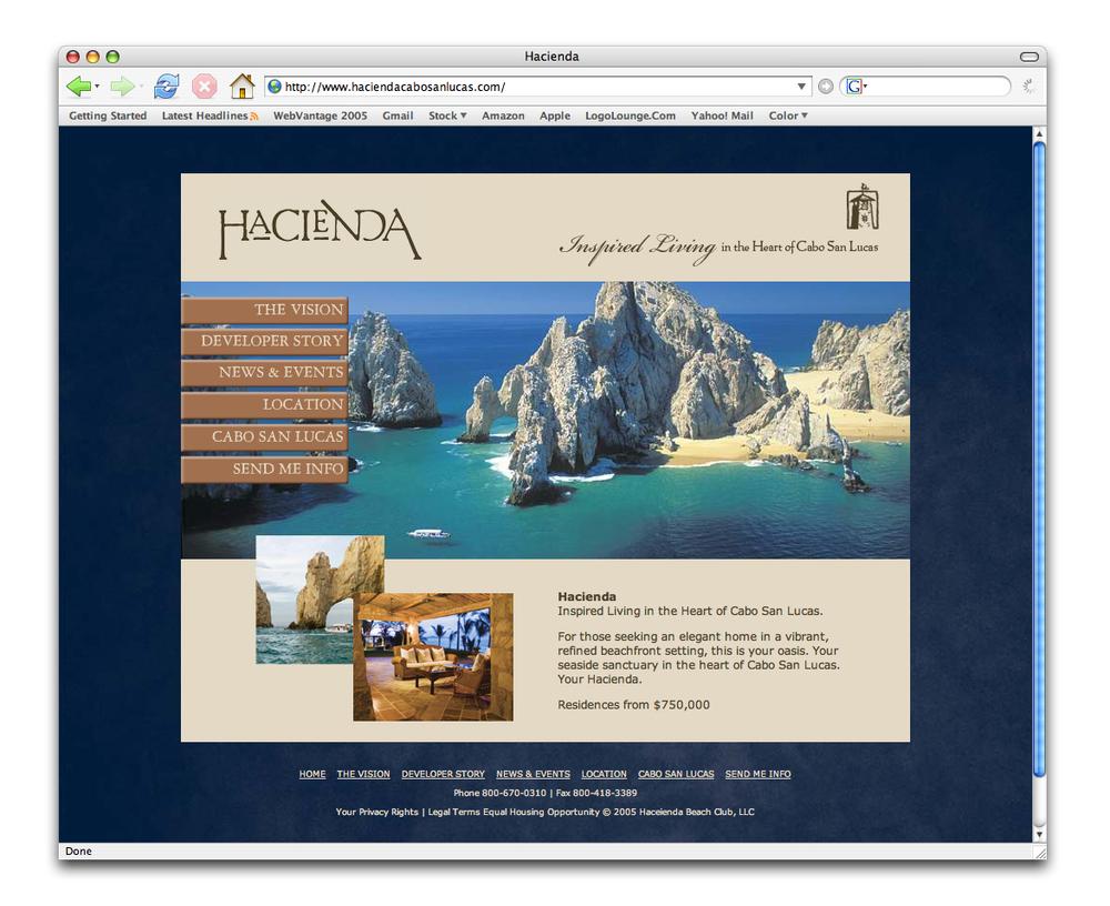 Hacienda Cabo San Lucas Web Site