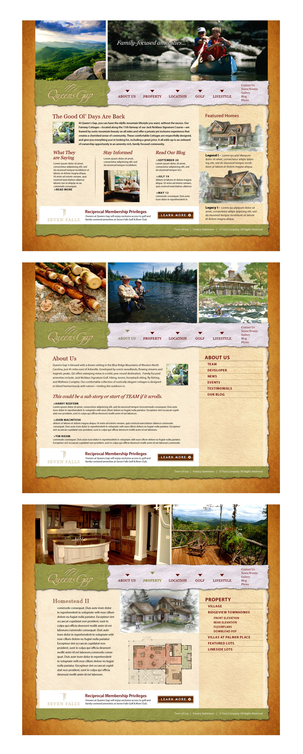 Queen's Gap Mountain Resort Community Web Site