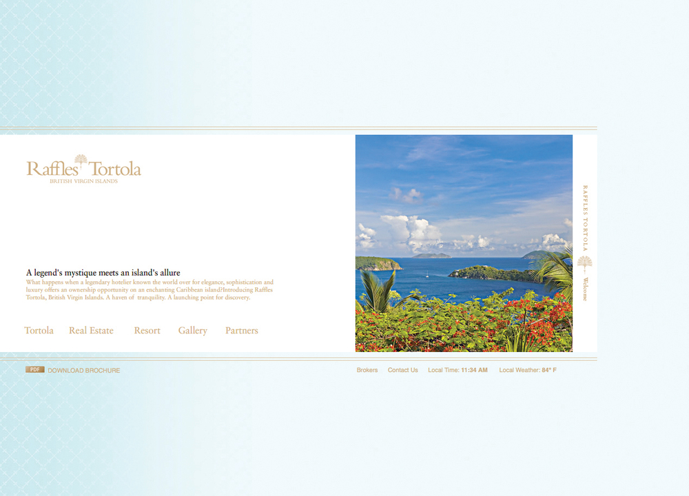 Raffles Tortola Web Site Home Page