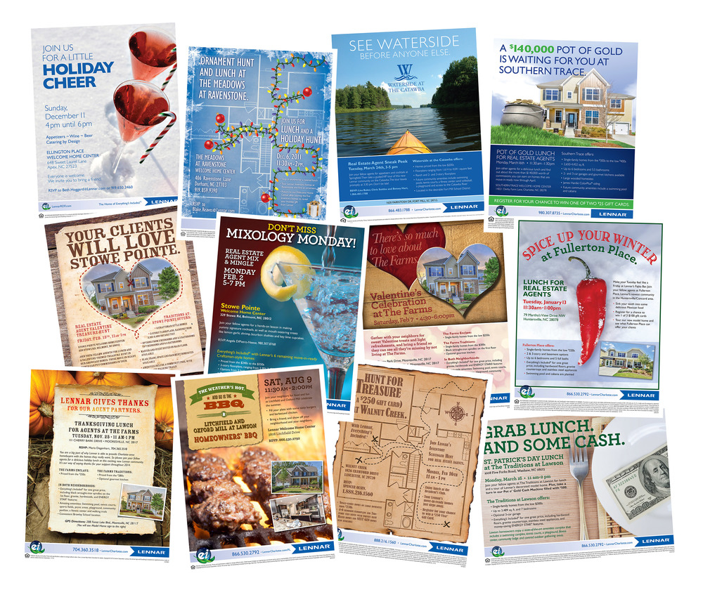 Various Event Flyers for Lennar Homes