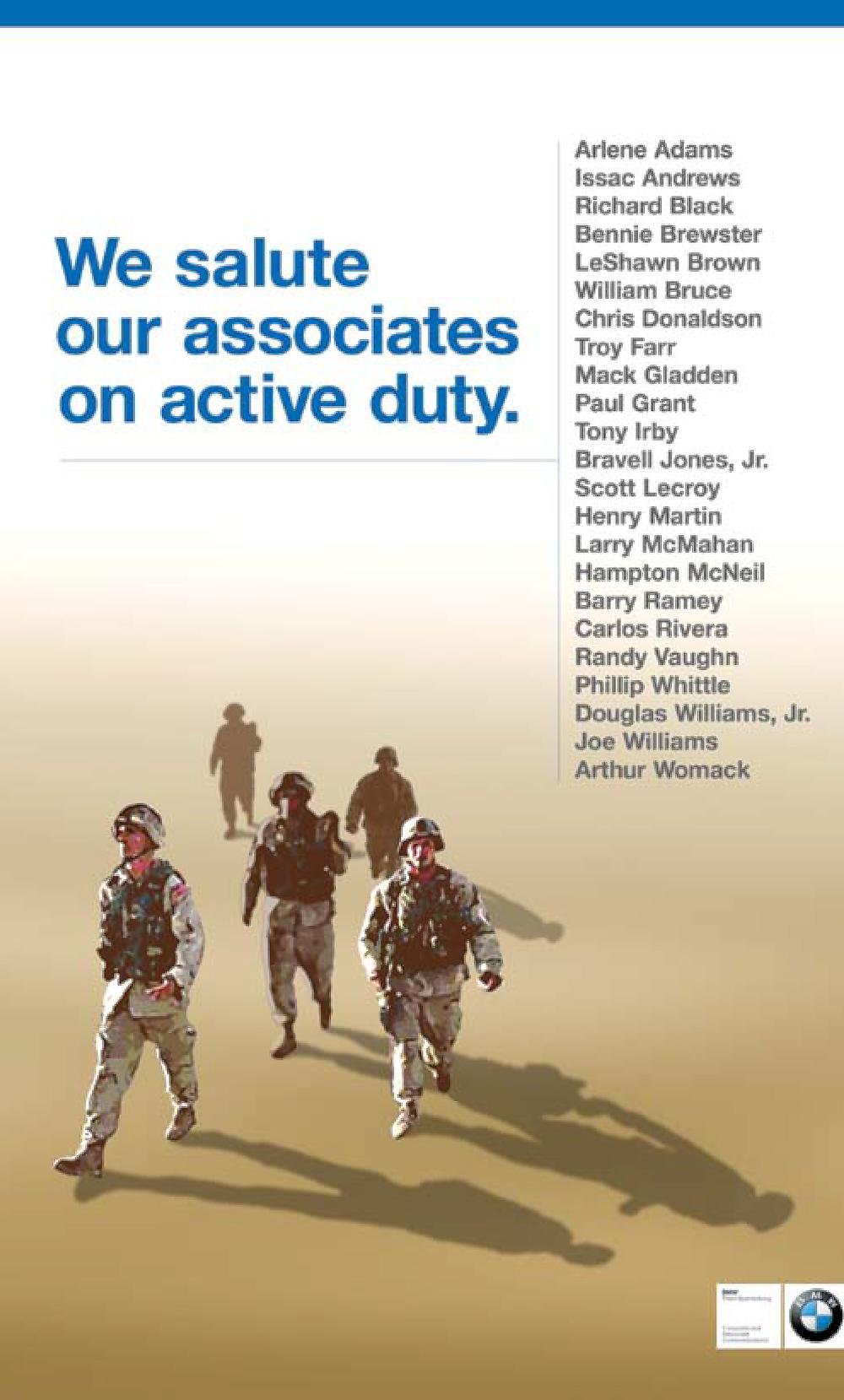 BMW Active Duty Associates Poster