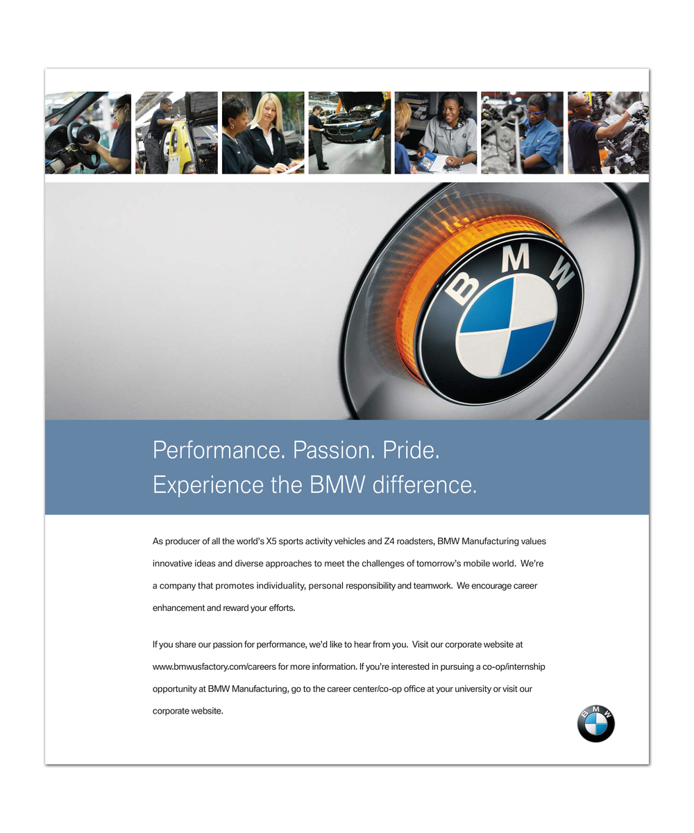 BMW Associate Recruitment Ad