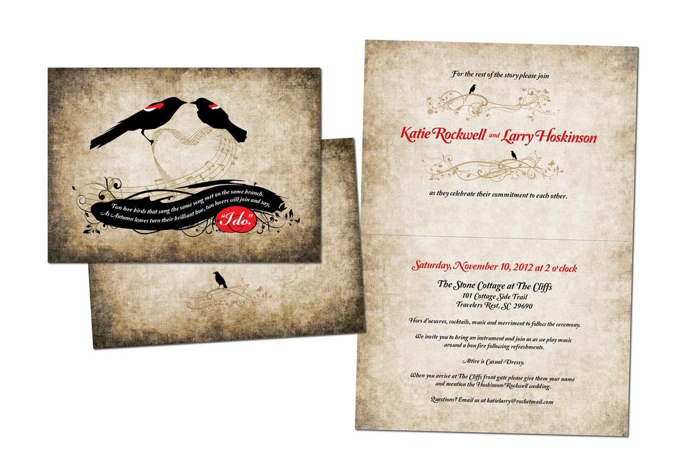 Katie & Larry Wedding Invitation