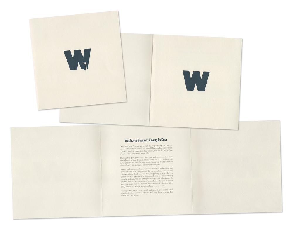 Westhouse Design Business Closing Mailer