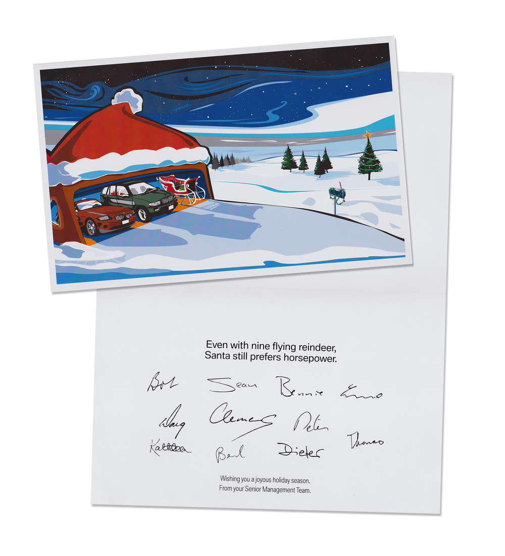 "BMW ""Horsepower"" Christmas Card"