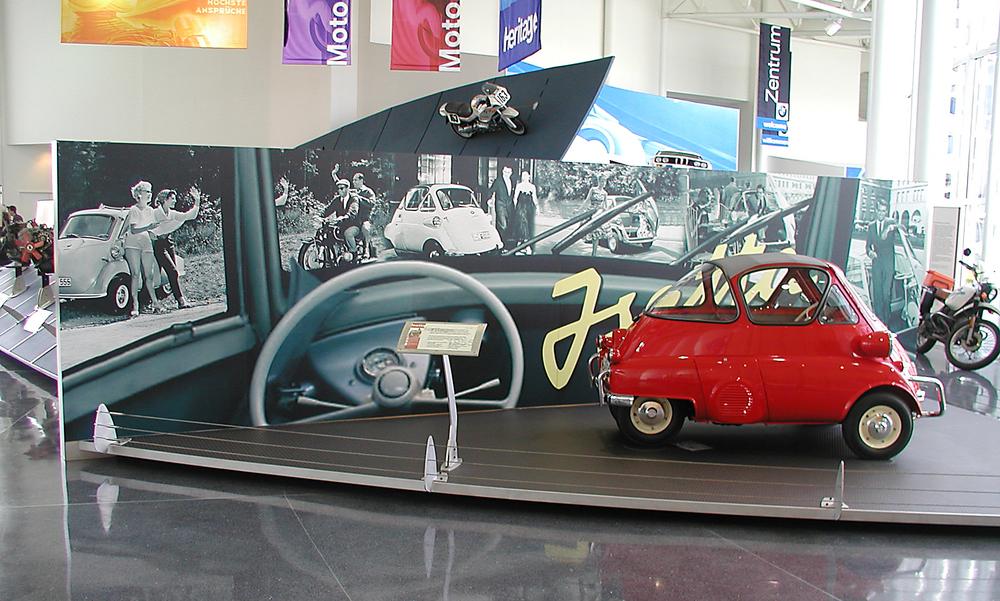 Isetta Display at the BMW Zentrum Visitors Center