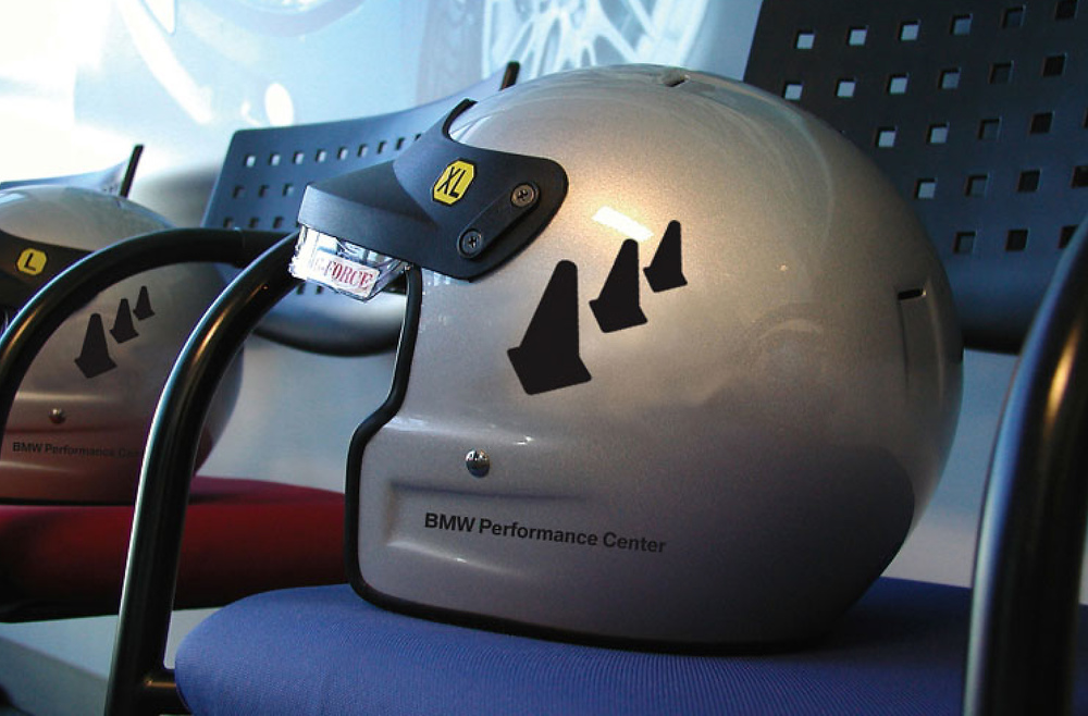 BMW Performance Center and Driving School Driver Helmets