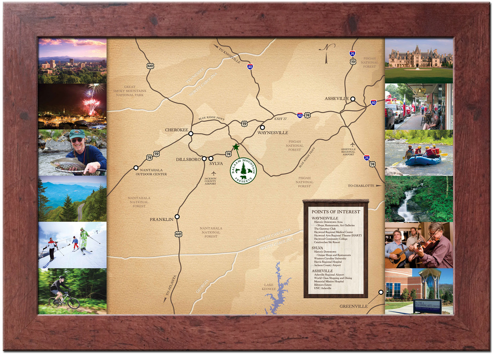 Balsam Mountain Preserve Sales Office Map Graphic