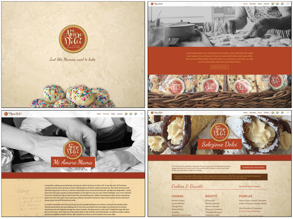 Mi Amore Dolci Website Design