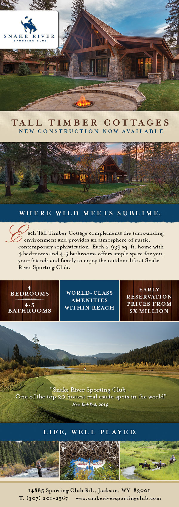 Snake River Sporting Club Tall Timber Cottages Eblast