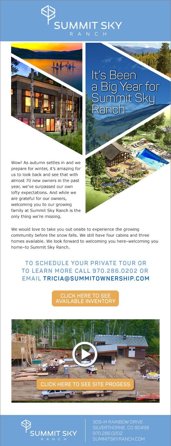 Summit Sky Ranch Sales Update Eblast