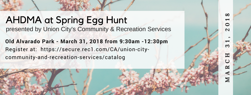March 31 - Spring Egg Hunt at the Old Alvarado Park