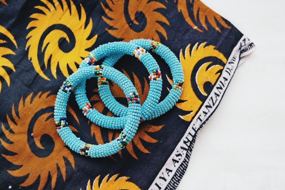 Set of 3 Maasai Bracelets   , To The Market, $36.00