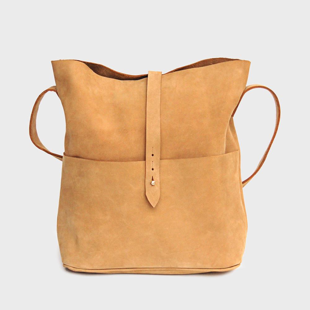 Nubuck Messenger Bag by Meyelo, Dara Artisans, $135.00