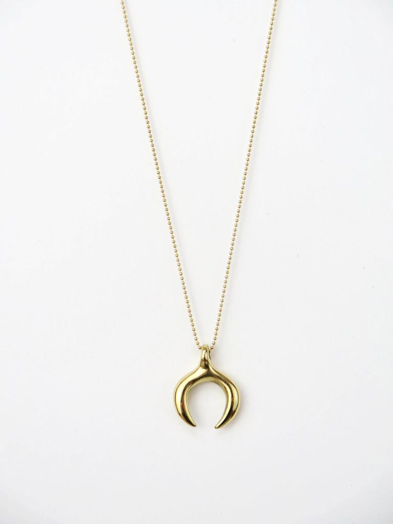 Open Circle Pendant, Mikuti, $92.00
