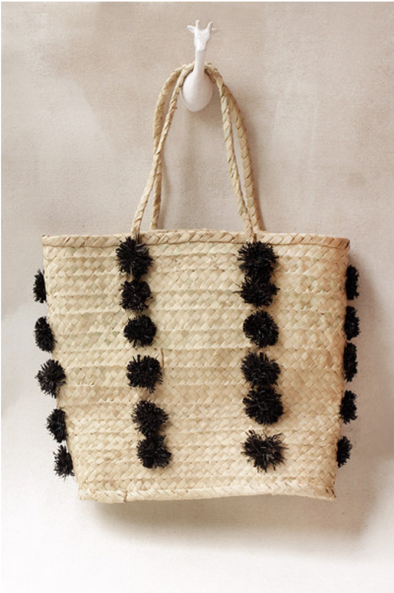 Pom Palm Tote  ,  Indego Africa , $75.00