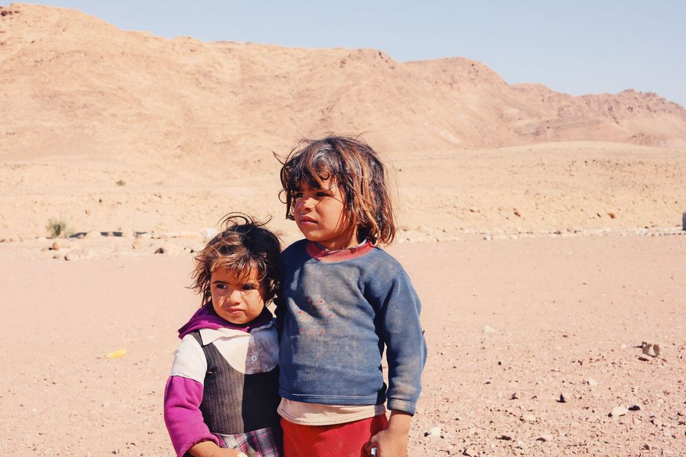 Young Bedouin girls near Feynan Ecolodge.