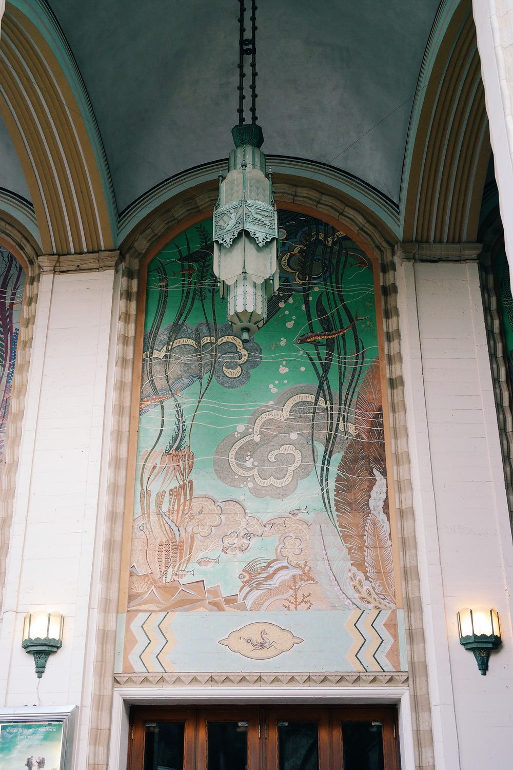 Exploring the Art Deco design at the Catalina Casino, Avalon, Catalina Island