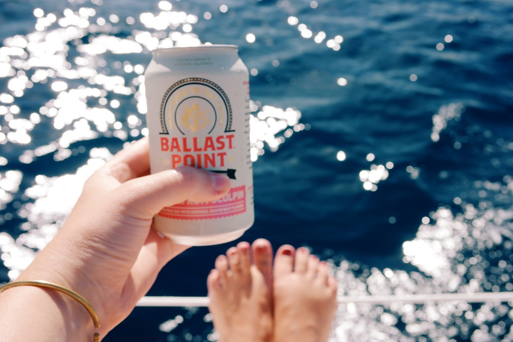 Nothing like sailing & a cold beer!
