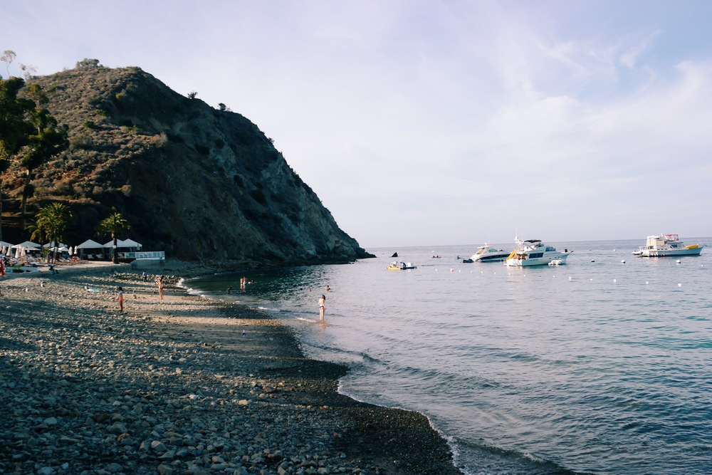 Golden hour at Descanso Beach & Cove, Avalon, Catalina Island