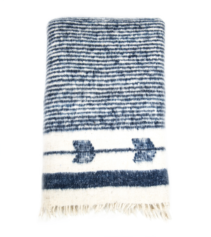 Navy Chamarra Blanket, Ara Collective, $168.00