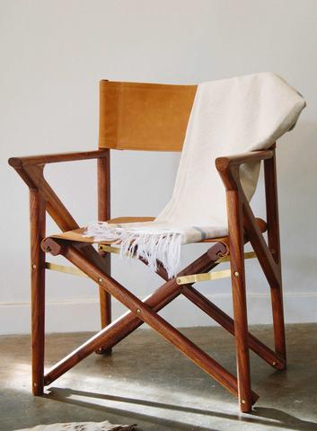 Baker's Modern Leather Safari Chair by Rose & Fitzgerald  ,  Accompany , $975.00