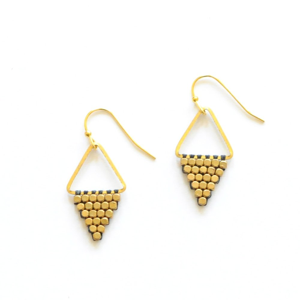 Diamond Didi Earrings by the Didi Jewelry Project, TO THE MARKET, $20.00