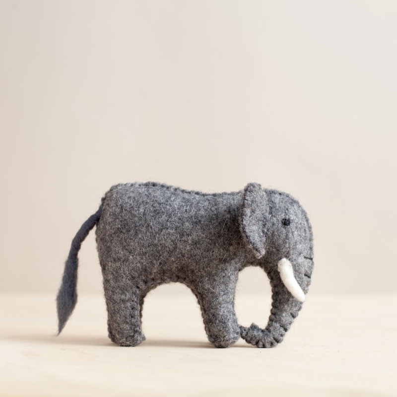 Handfelted Elephant Baby by Mulxiply  ,  TO THE MARKET , $18.00