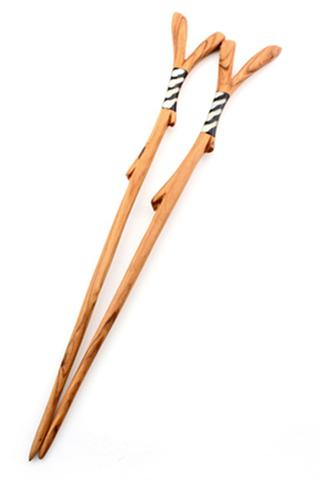 Wild Olive Wood and Bone Chopsticks by Swahili Modern  ,  Accompany , $16.00