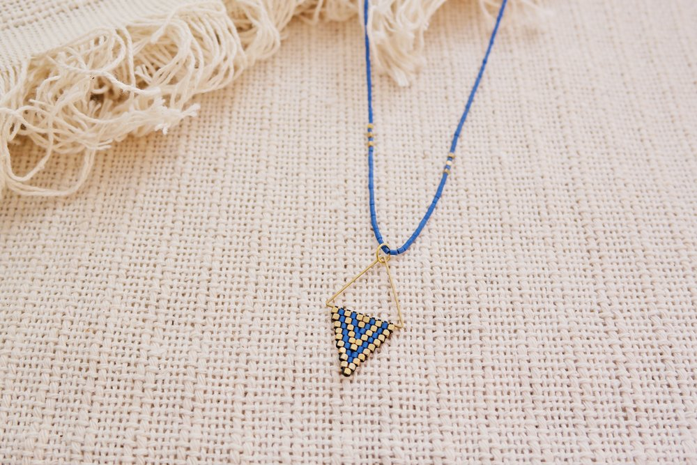 Long Didi Diamond Necklace in Lapis by Didi Jewelry Project, TO THE MARKET, $40.00