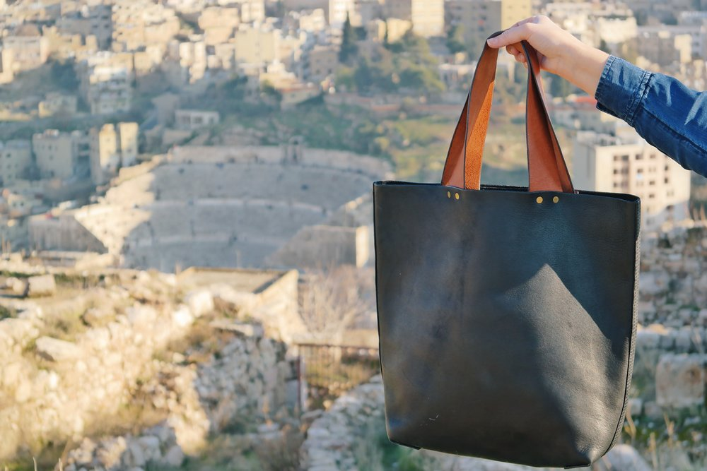The Ethical Leather Tote by Haiti Design Co-op, TO THE MARKET, $199.00