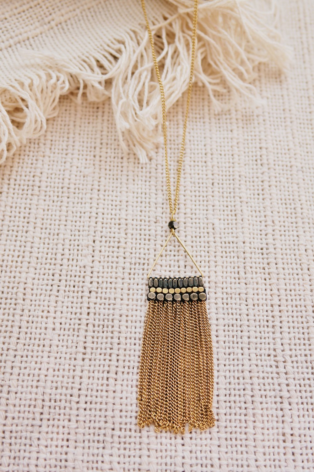 Ox Chain Tassel Necklace by The Didi Jewelry Project, TO THE MARKET, $36.00
