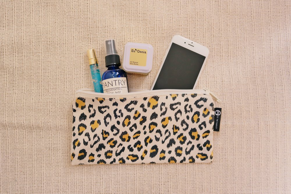 Cheetah Pencil Bag , TO THE MARKET, $15.99