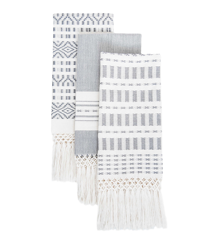 Slate Hand Towels (Set of Three), Ara Collective, $90.00