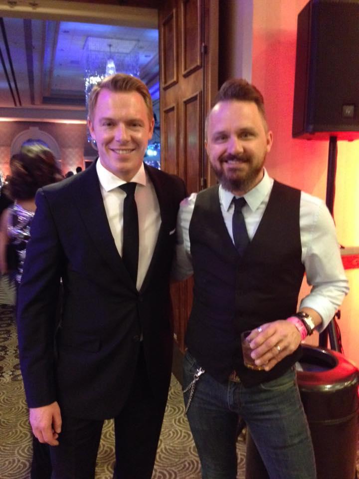 Diego Klattenhoff with Ryan Murphy from Full Contact Karaoke