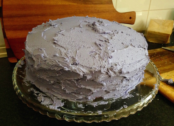 The messy icing stage