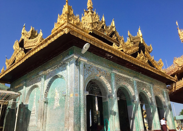 This whole temple is covered in a mosaic of tiny mirrors