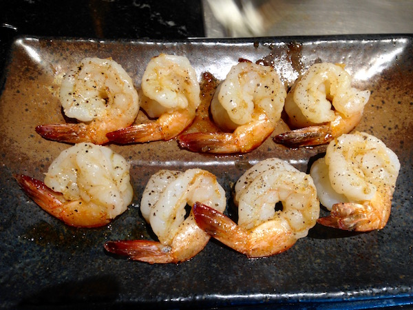 Prawns with a sprinkling of black pepper