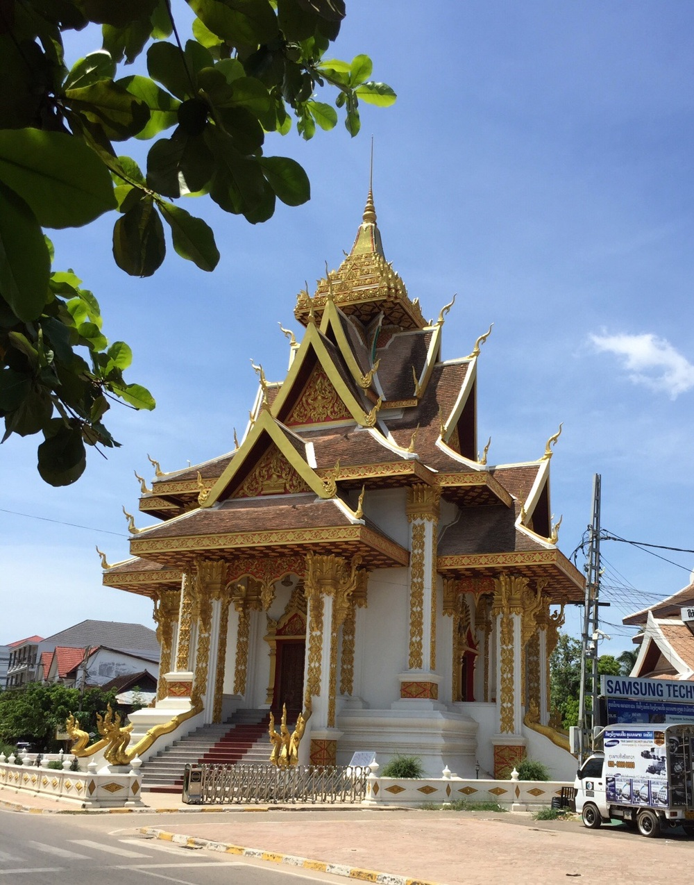 Vientiane is full of beautiful Buddhist wats (temples) all immaculately cared for