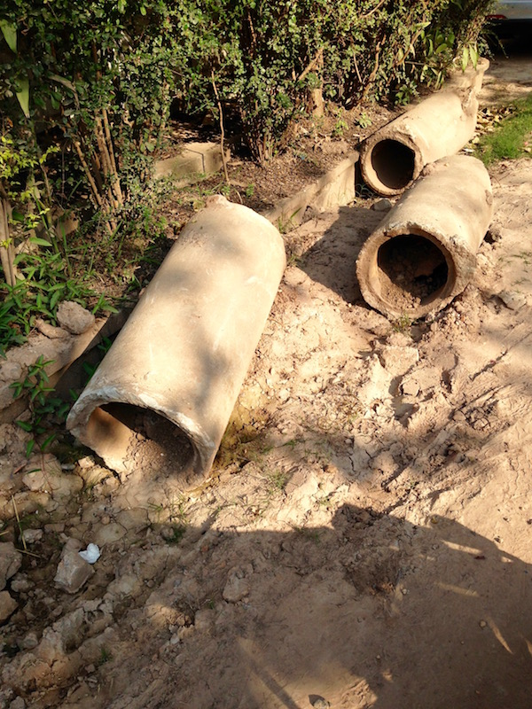 The discarded old drains