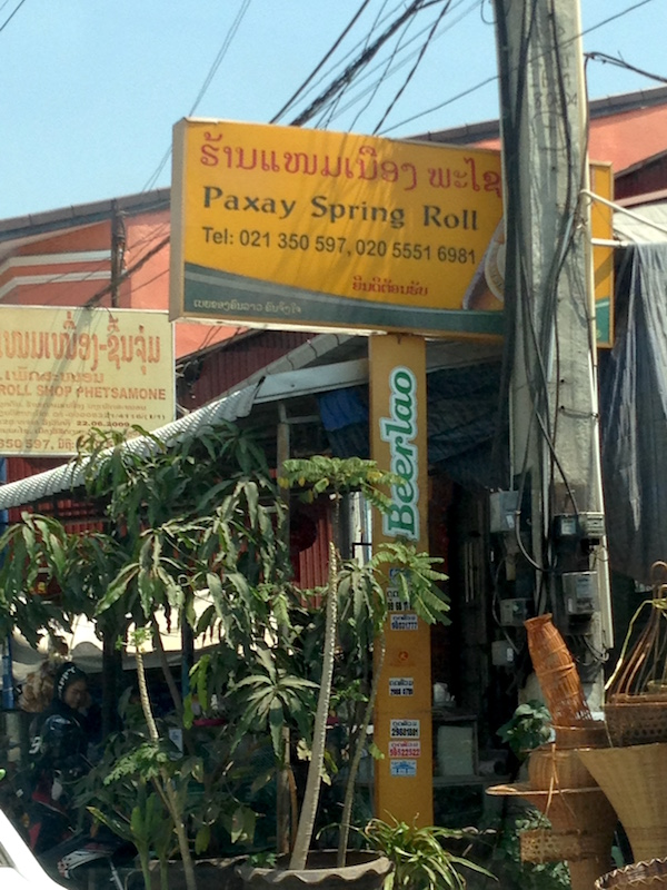 Vientiane Spring Roll Corner Eat Drink Laos