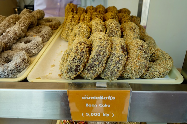 Sweetened mung bean is a popular dessert in Laos