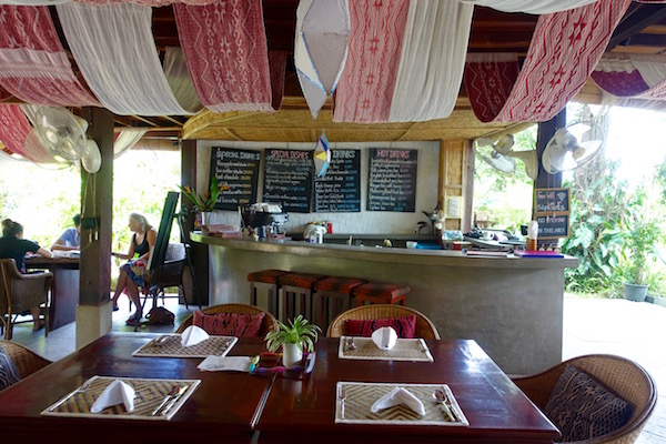 The lovely, open air cafe at Ock Pop Tok's Living Craft Centre