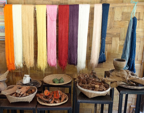 The natural dyes used in Lao silk weaving