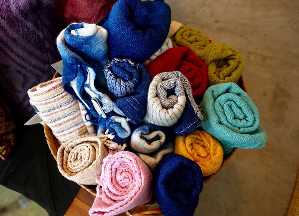 Colourful cotton scarves